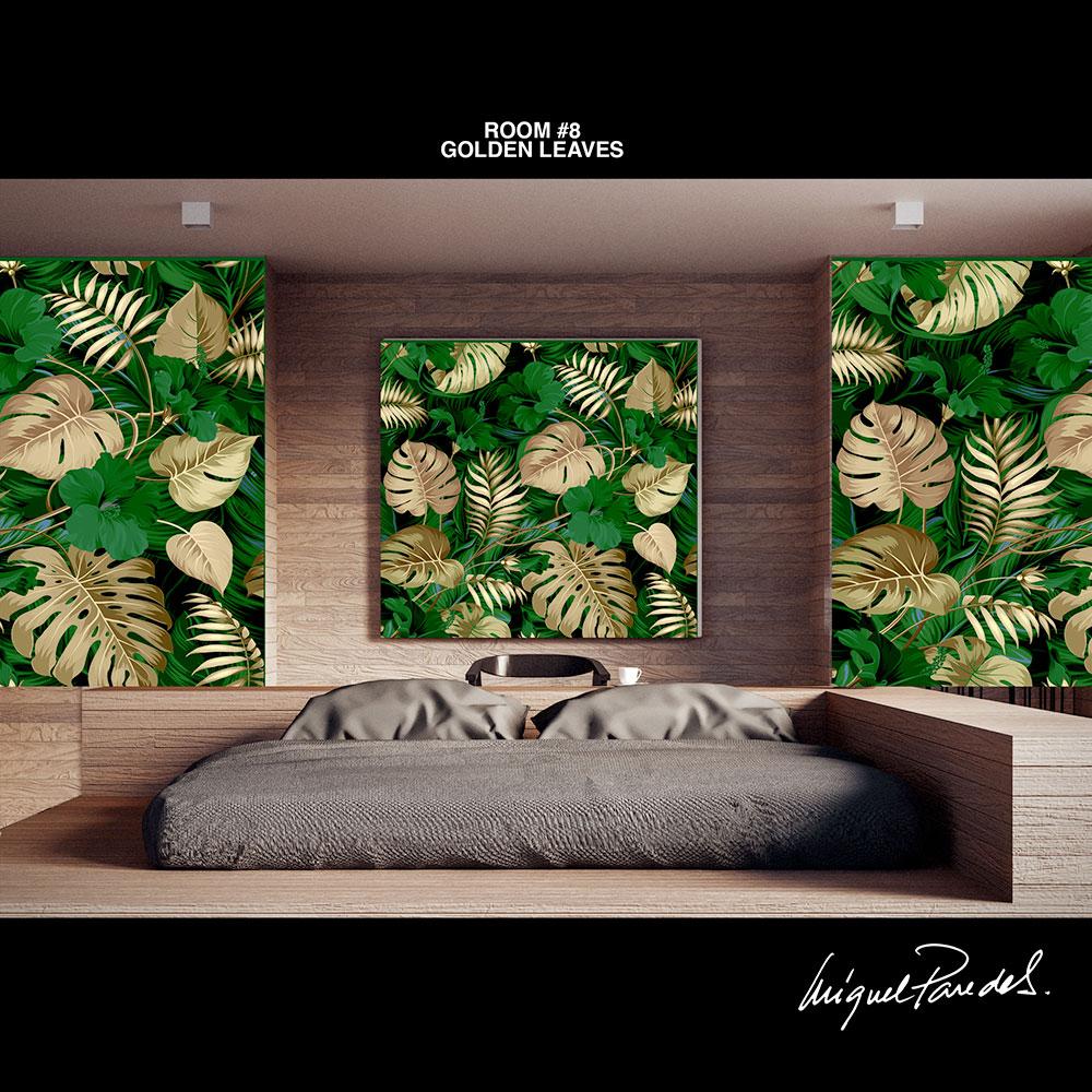 Room #8 Golden Leaves